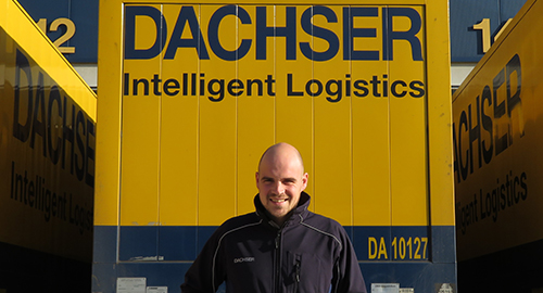 Tim, facility manager van Dachser Logistics Center Zevenaar